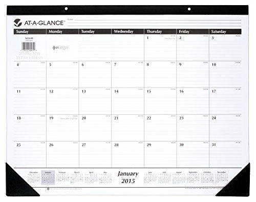 Table Calendar Size : At a glance monthly desk calendar inch