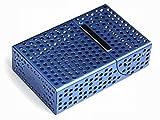 BOX シガレット ケース ( 箱用 青 アルミ )( 1箱 メンズ タバコ 煙草 たばこ )