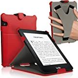 IGadgitz Premium Executive PU Leather Case Cover for Amazon Kindle Voyage 7th Generation - Red