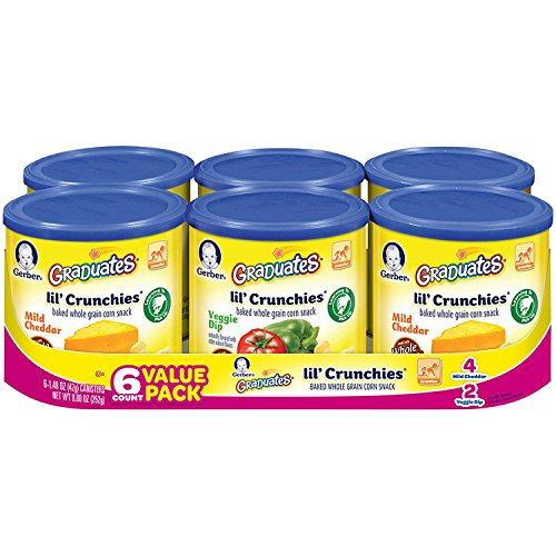 Gerber Graduates Lil' Crunchies - 6 pk. - 1.48 oz. (Lil Crunchies Veggie Dip compare prices)