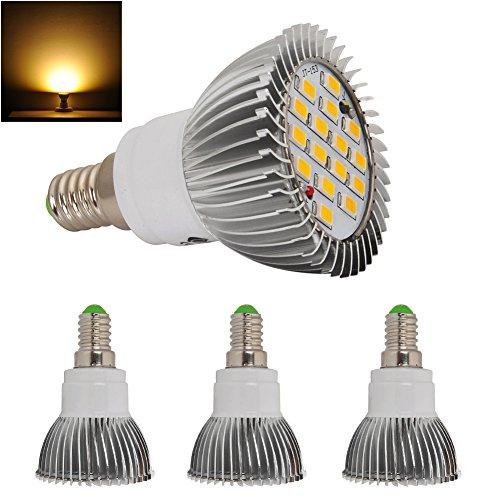 4X 8W High Power E14 Led Light Ultra Bright Lamp Bulb 5630 Smd Warm White 230V