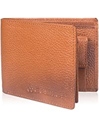 Leather Wallet For Men - Cosmus 100% Original Genuine Leather Wallet - LW-0005 - TAN