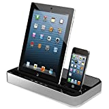 "Multi-Function Docking Station Dual Charger Speaker for Apple iPod Touch 5 / 4 iPad Air 2 / 1 iPad 4 / 3 / 2 / 1 iPad Mini 4 / 3 / 2/ 1 iPhone 6S / 6 4.7"" iPhone 6S / 6 Plus 5.5"" iPhone 5S / 5 4S / 4 Samsung Galaxy Note Edge / 5 / 4 /3 Galaxy S6 / S5 / S4 / S3 HTC Sony Huawei Phones by iNextStation"
