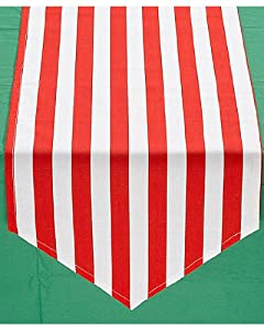 candy cane striped table runner Chasing Fireflies