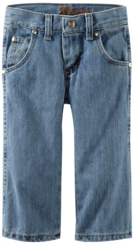 Wrangler Little Boys' Relaxed Seat And Thigh Boot Cut Jean, Ocean Water, 4