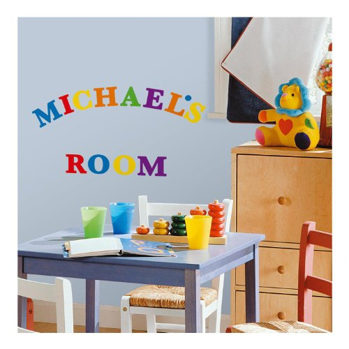 RoomMates RMK1253SCS Express Yourself Primary Colors Peel & Stick Wall Decals