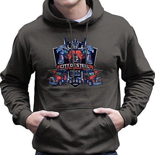 City of Steal Optimus Prime Truck Show Transformers Men's Hooded Sweatshirt
