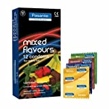 Pasante Mixed Flavour Condoms - 25% EXTRA FREE - 15 for Price of 12 - Blueberry, Strawberry, Mint, Banana, Chocolate and Vanilla for EXTRA FUN!