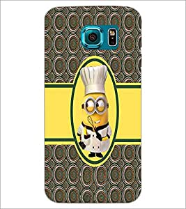 PrintDhaba Funny Minion D-3777 Back Case Cover for SAMSUNG GALAXY S6 (Multi-Coloured)