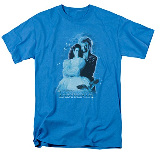[Labyrinth Peach Dreams T-shirt, Turquoise, Large] (Jareth Costume Shirt)