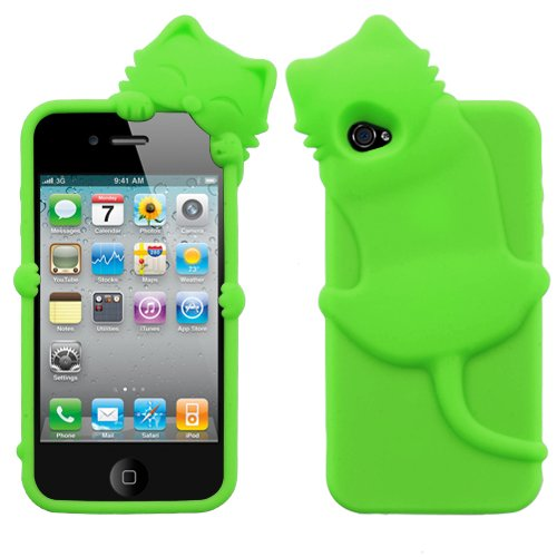 Apple iPhone 4 4S Soft Skin Case Electric Green