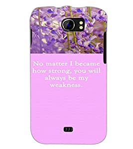 PrintDhaba Quote D-3721 Back Case Cover for MICROMAX A110Q CANVAS 2 PLUS (Multi-Coloured)