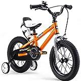 RoyalBaby BMX Freestyle Kids Bike, Boys Bikes and Girls Bikes with training wheels, Gifts for children, 12 inch wheels, Orange