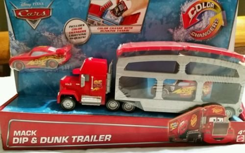 Disney Cars Color Changers Huge Lot of 4! Includes: Mack with Dunk Tanks with McQueen, Sheriff, Ramone and Boost! (Color Shifters Disney Cars compare prices)