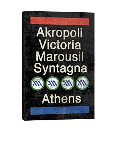 Athens Gallery Wrapped Canvas Print