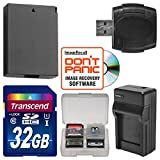 LP-E10 Battery & Charger + 32GB SD Card Essential Bundle for Canon Rebel T5 & T6 Digital SLR Camera