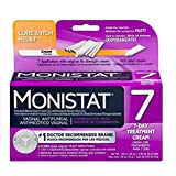 MONISTAT Vaginal Antifungal 7-Day Treatment Cream, Cure & Itch Relief (Color: White, Tamaño: 7)