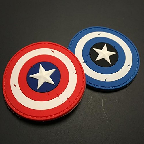 Captain America Shield Patch - Battle Worn Edition (Blue)