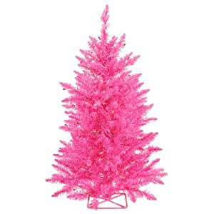 vickerman hot pink christmas tree with 35 pink mini lights 2 feet christmas trees. Black Bedroom Furniture Sets. Home Design Ideas