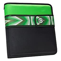 Case-it Open Tab Velcro Closure 2-Inch Binder with Tab File, Green Prism, S-817-NEOGRPR