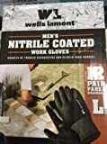 Wells Lamont Mens Nitrile Coated Work Gloves 12-Pair Large