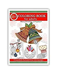 Adult coloring book : Merry Christmas Volume 03 by Prajakta P, Christmas coloring book for adults
