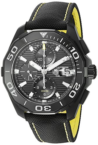TAG-Heuer-Mens-Aquaracracer-Swiss-Automatic-Stainless-Steel-and-Canvas-Dress-Watch-ColorBlack-Model-CAY218AFC6361