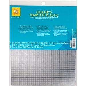 Simplicity 6-Piece EZ Quilting Quilter's Template Plastic Assortment