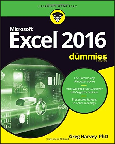 Excel 2016 For Dummies (Excel for Dummies) cover