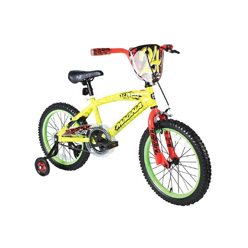 Dynacraft Boy's Magna Rip Tide Bike (Yellow/Green, 18-Inch)