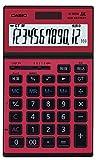 カシオ 実務電卓 12桁 JS-201SK-RD-N レッド ジャスト・スリムタイプ