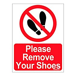 Clickforsign Please remove your Shoes Sign Board
