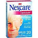 Nexcare Opticlude Orthoptic Eye Patches Junior Size 20-Count Boxes Pack Of 4
