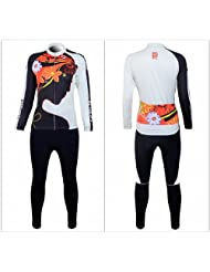 HOT!! Women's Outdoor Cycling Long Sleeve Jersey + Pants With 4D Padded