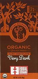 Equal Exchange Organic Very Dark Chocolate, 2.8-Ounce (Pack of 6)