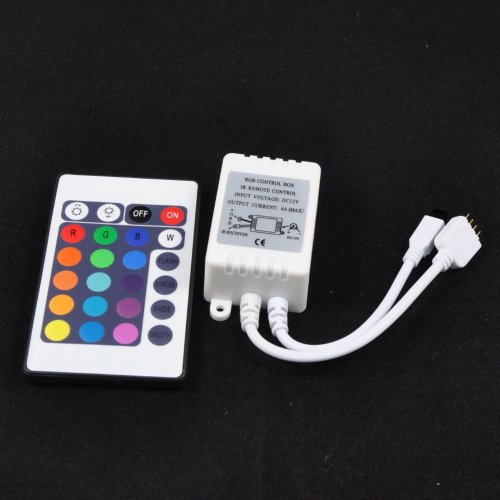 Q2Ag 12V 3X2A=6A Ir Remote 24Keys Button Wireless Rgb Led Controller Dimmer For Led Smd 5050 String Strip Ribbon Lights