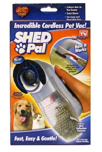 Spark Innovators Shed Pal Incredible Cordless Pet Vac! (Pet Vacuum Brush compare prices)