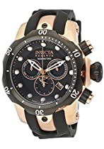 Invicta Venom Chronograph Black Dial Polyurethane Mens Watch 0948