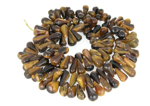 Tiger Eye Runes Side Drill Drop Beads Loose Strand Opaque Stone Fancy
