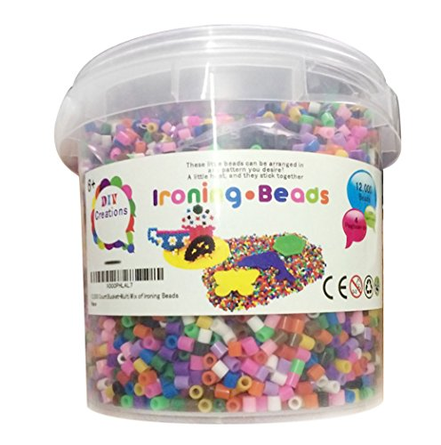 DIY Creations® 12,000 Count Bucket-Multi Mix of Ironing Beads - 1