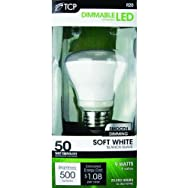 TCP RLR209W27KD TCP R20 Dimmable LED Floodlight Light Bulb-9W R20 LED 27K BULB