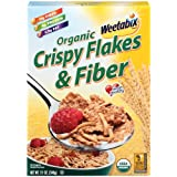 Weetabix Organic Crispy Flakes   Fiber Cereal 12 Ounce Boxes  Pack of 6