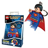 DC Comics Official Lego Superman Superhero New LED Key Light Chain Torch Keyring
