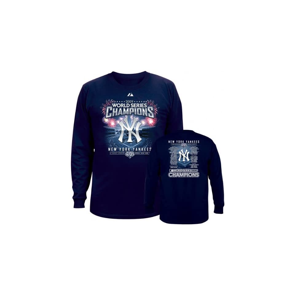 17a9362665f New York Yankees Youth 2009 World Series Champions Roster Long Sleeve Tee