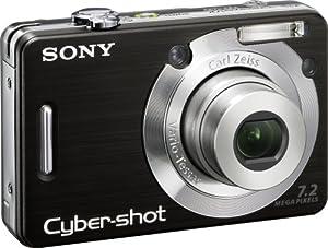 Sony Cybershot DSCW55 7.2MP Digital Camera with 3x Optical Zoom (Black) (OLD MODEL)