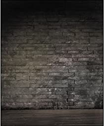 Brick Wall Wood Floor Photography Backdrops for Bride Wedding