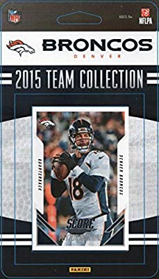 Denver Broncos 2015 Score Factory Sealed NFL Football 13 Card Team Set Super Bowl Champions with Peyton Manning Plus