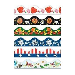 Bulletin Board Seasonal Borders (pack of 6)