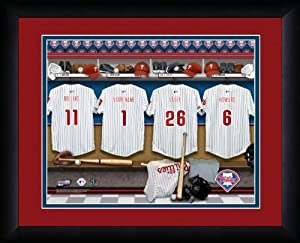 MLB Personalized Locker Room Print Black Frame Customized Philadelphia Phillies by You