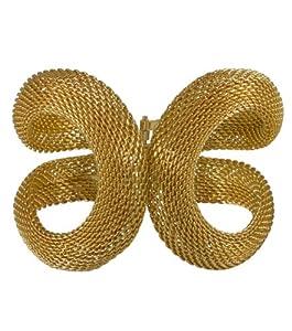 """SIX """"Tiger"""" anmutiger, goldener Metall-Armreif mit zwei Schlaufen und Spangenverschluss (333-216)"""